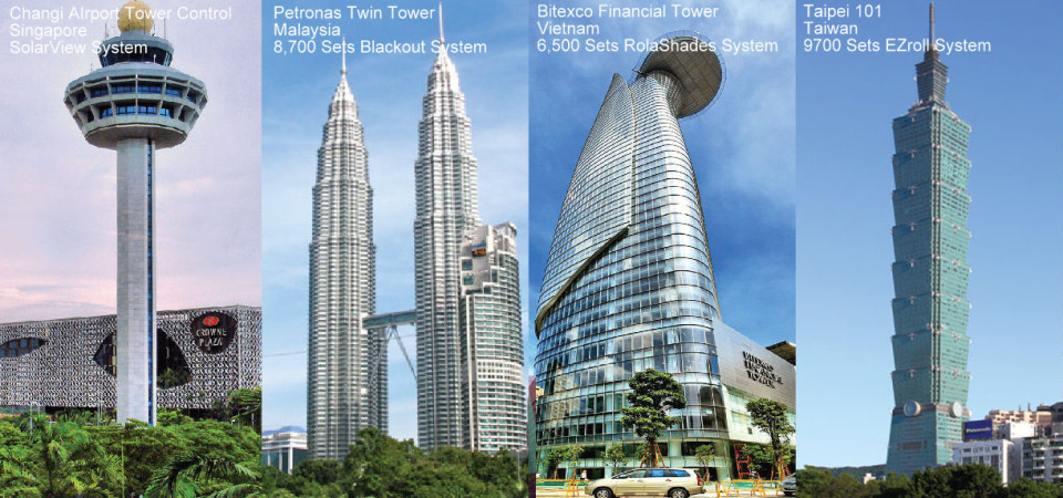 RolaShades Projects: World-Class Iconic Buildings